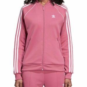 ADIDAS Pink Dusty Pink/Muave Tracksuit Zip Jacket